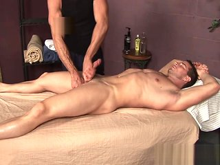 masturbation In real life inexperienced gets massaged and serviced gay