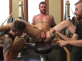 bondage Subjection gay jerked apart from cumcontrolling dominant bdsm