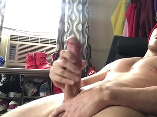 big cock (gay) Dude Wanks His Big Meaty Cock amateur (gay)