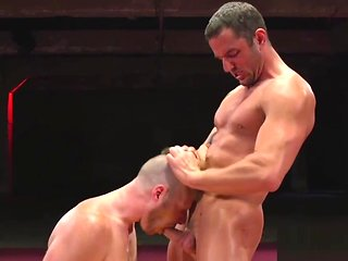 blowjob Wrestling jock bounces insusceptible to studs cock bdsm
